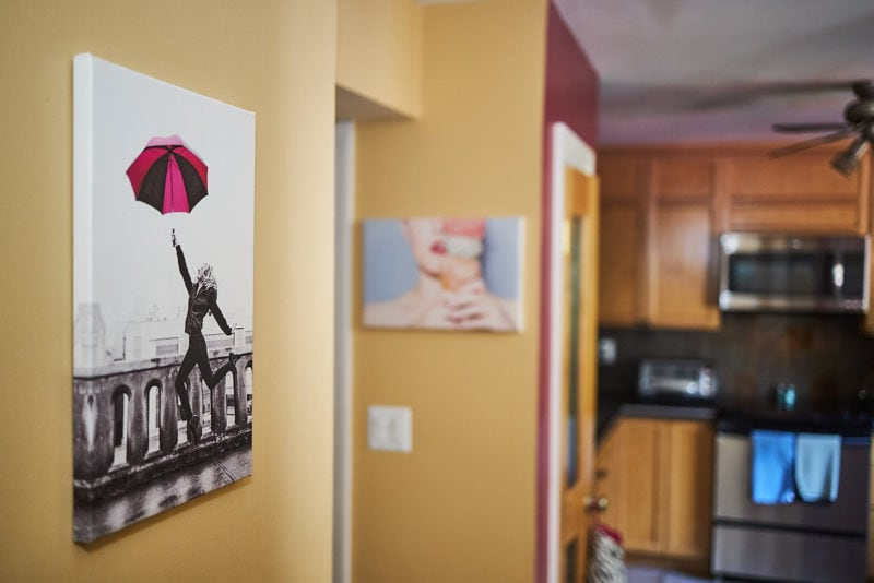 print pictures to hang on walls