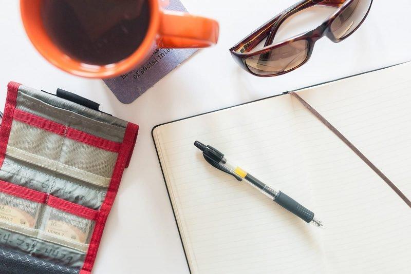 flat lay scheduler notebook