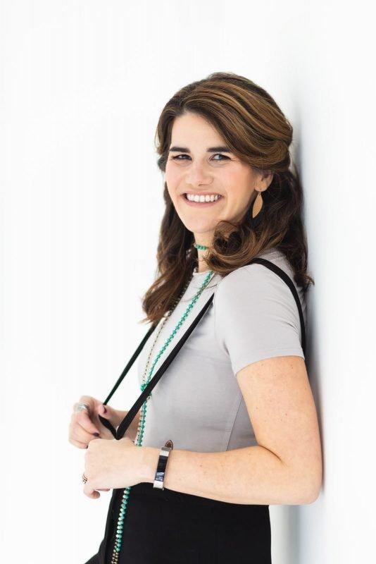 branding portrait of female freelancer at white wall studio Woodstock atlanta