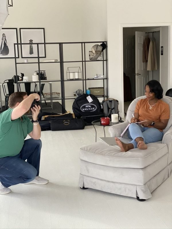 behind the scenes of an atlanta personal branding photography session