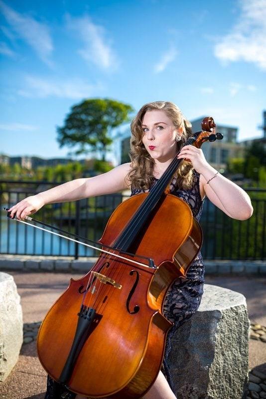high school senior plays cello