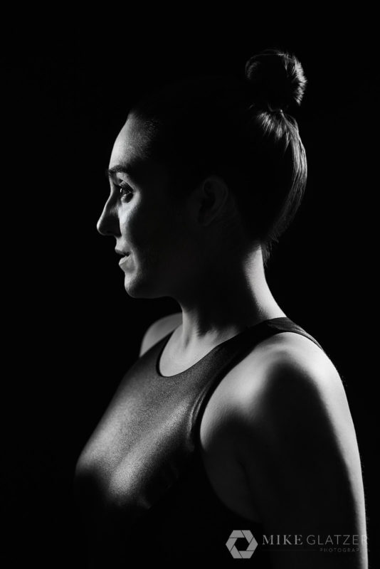 black and white silhouette portrait