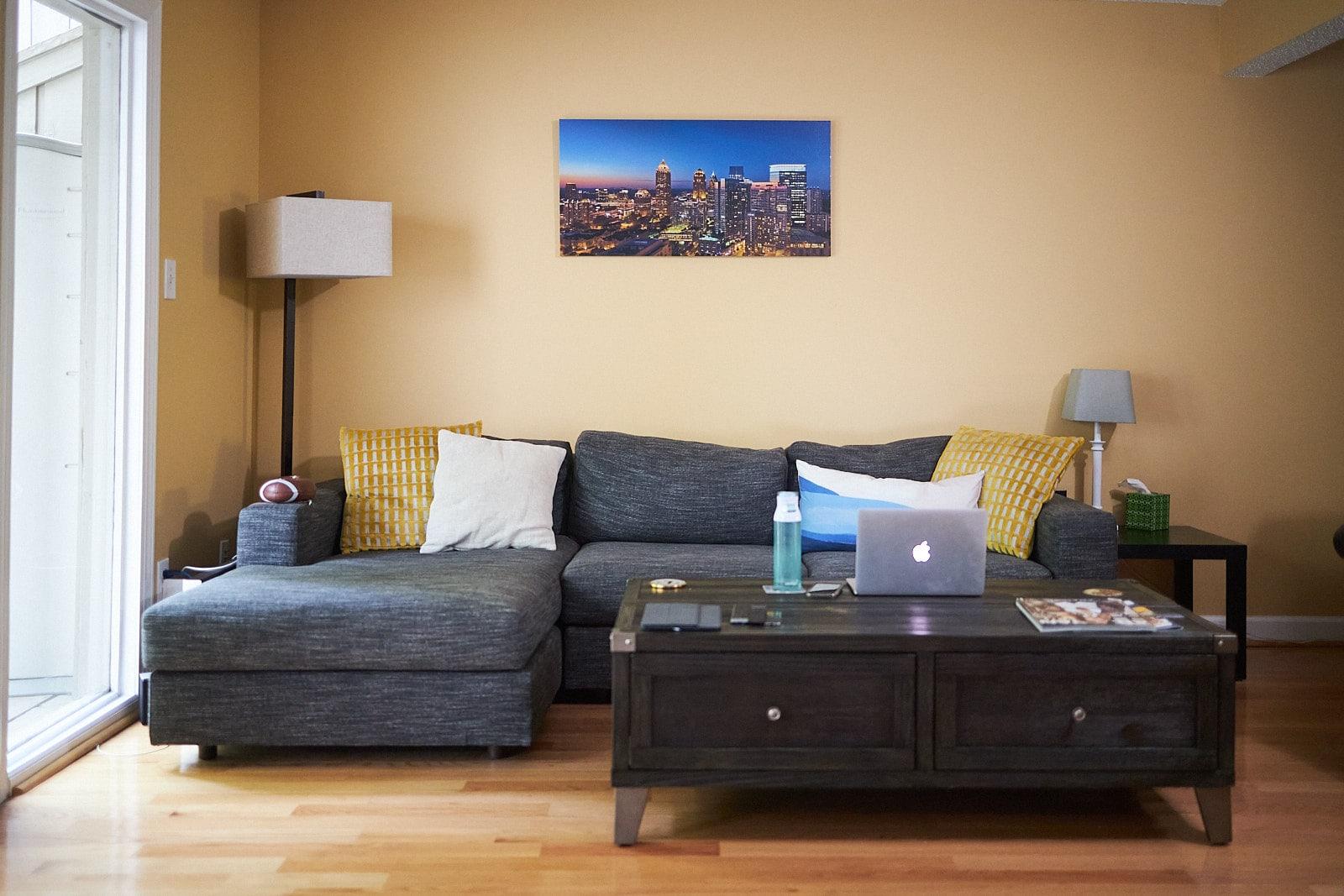 wall art of atlanta panorama from print shop