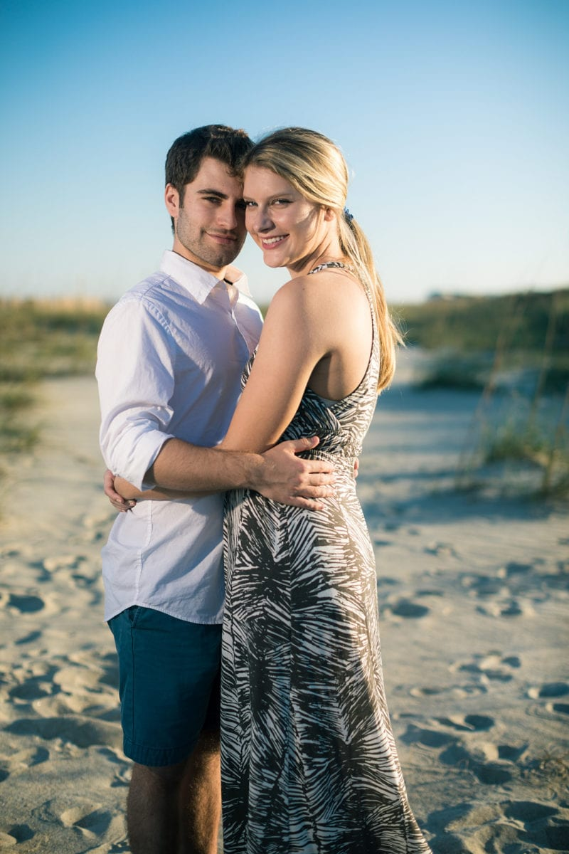 engagement session on tybee island beach