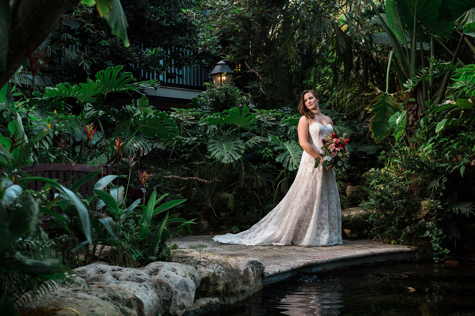 dramatic atlanta bridal portrait in woods