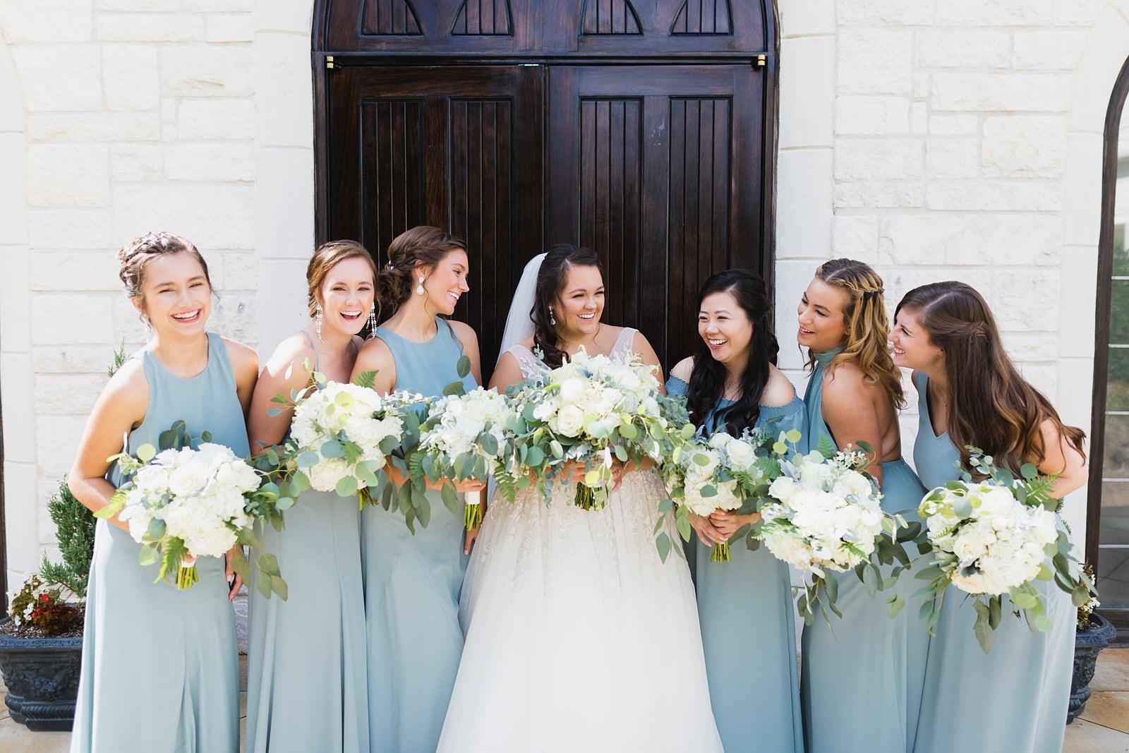 Bridesmaids laugh at Atlanta Ashton Gardens
