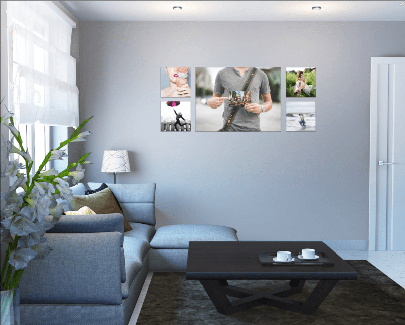 large portrait wall art collage